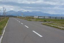 野付半島の道路の画像002