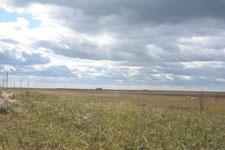 野付半島の草原と雲の画像004