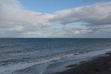 野付半島の海と虹