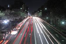靖国神社の満開の夜桜の画像006