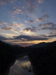 石立山の夕焼け