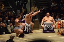大相撲 横綱土俵入りと鶴竜 力三郎と蒼国 来栄吉と豊ノ島 大樹の画像009