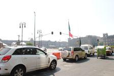 メキシコシティの車