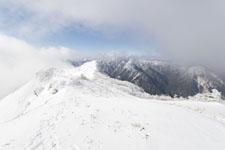 寒風山の冬山の画像002