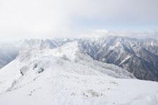 寒風山の冬山の画像003