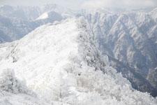 寒風山の冬山の画像004