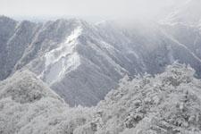 寒風山の冬山の画像007
