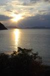 沖縄の海に沈む夕日の画像007