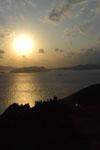 照山展望台から見た沖縄の海に沈む夕日の画像011