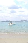 沖縄の海と船の画像014