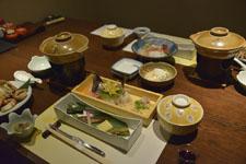 北海道の毛ガニとお造りの画像002