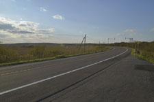 風蓮湖の道路