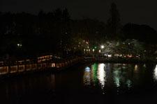 井の頭恩賜公園の橋は夜桜の画像001